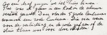 Afb. 3 - Uitsnede handgeschreven herinneringen van Grietje Rogaar.