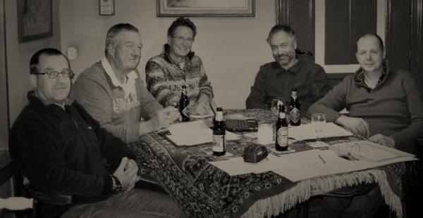 Lambertus Postma, Pieter van Dijk, Fokko Leutscher, Pieter Malfliet, Henk Meulenbeld